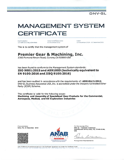 as9100 iso 9001 2015 certificate